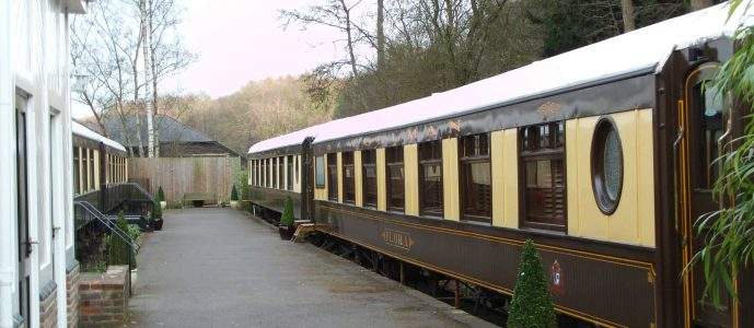 Carriage at the old railway station in Petworth