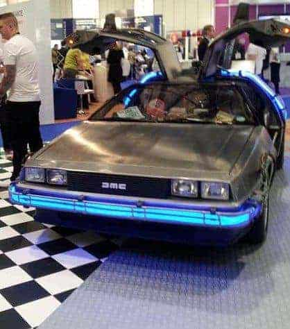 Back to Future Car in The Cleaning Show 2015, London