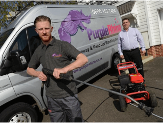 Jak Barton & Darran Smith from Purple Rhino pressure washing services