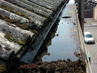 Gutter-During-Cleaning-Dartford-by-www.purple-rhino.co.uk