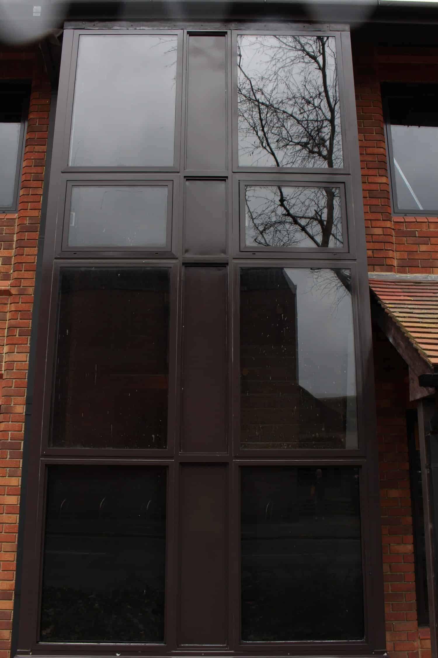 Brown Powder Coated Window Frame Restoration Chertsey