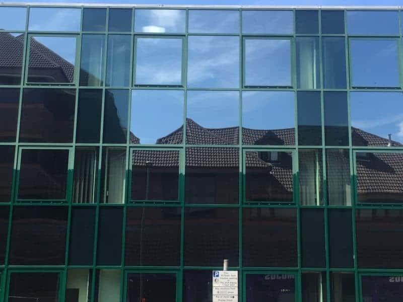 Green Powder Coated Aluminium Window Frame Restoration