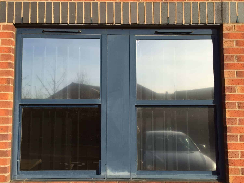 Alum Frame Windows : Aluminium window frame restoration birmingham purple rhino