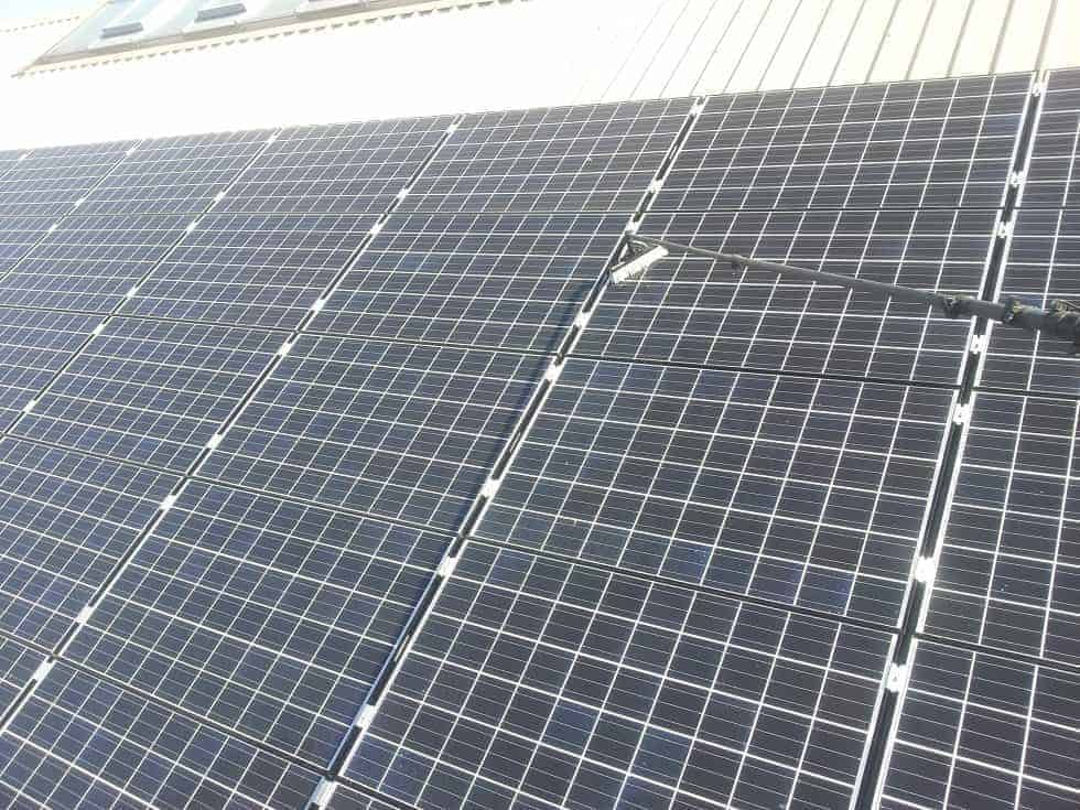 Environment Agency Solar Panel Cleaning Purple Rhino