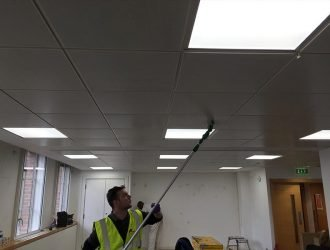 Ceiling cleaning Wakefield from purple-rhino.co.uk