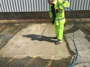 Concrete-Car-Park-Pressure-Washing-London-Purple-rhino-co-uk
