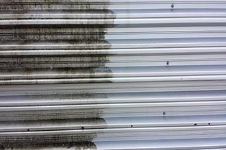 metal cladding cleaning-purple-rhino.co.uk